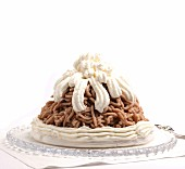 Mont Blanc (chestnut dessert topped with cream)
