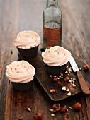 Hazelnut cupcakes with butter cream