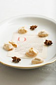 Nuremburg gingerbread and star anise on a plate