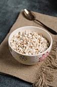Wholemeal puffed buckwheat