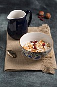Muesli with wholegrain buckwheat, amaranth, nuts, dried cranberries and coconut