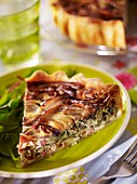 Red onion quiche