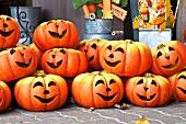 Pumpkin faces for Halloween