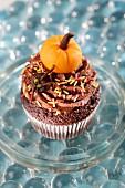 A chocolate cupcake for Halloween