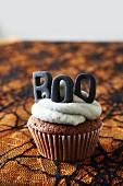 A cupcake for Halloween