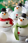 Snowman cupcakes for Christmas