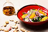 Oriental salad with garlic oil