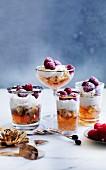 Trifle mit Moscato, Panettone, Mascarponecreme & Himbeeren