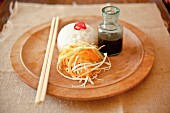 Sushi rice with shredded vegetables and soy sauce (Japan)