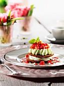 Erdbeer-Basilikum-Tiramisu