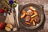 Oven-baked pork fillet with apple