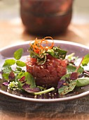 Tuna tartar with herbs