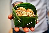 Khao Nom Kok (sweet coconut cake, Laos)