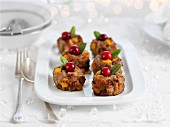 Pork and apricot stuffing with cranberries for Christmas