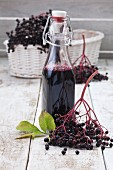 Elderberry juice and elderberries