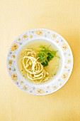 Noodle soup with herbs