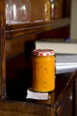 A jar of pumpkin paste