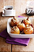 Baked apples filled with cinnamon and almonds