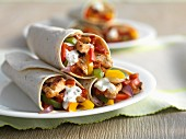 Chicken fajitas with sour cream