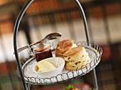Scones, clotted cream and jam for teatime