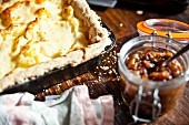 Homity pie with apple chutney