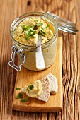 Hummus with coriander and pita bread