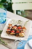 Rosemary vegetable skewers