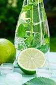 Lime and mint lemonade