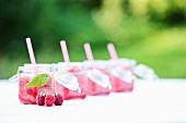 Raspberry smoothies