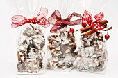 Rocky Road with nuts and cherries as Christmas gifts