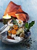 Pickled herring with vegetables
