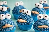 Blaue Monster Cupcakes