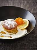 Cupcake mit Joghurt und Zitrone