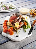 Rack of lamb with grilled vegetables