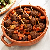 Meatballs with tomato sauce (Spanish tapas)
