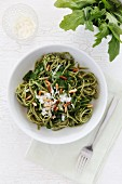 Rocket tagliolini with pesto