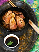 Pork with soy sauce