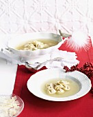 Veal tortellini in broth for Christmas