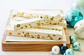 Pineapple and pistachio nougat for Christmas