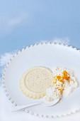 Panna cotta with orange cream
