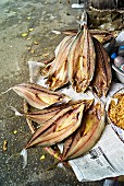 Dried fish at a market in Haiphong, Vietnam