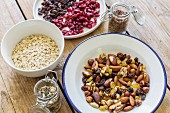Nuts, seeds, oats and dried berries
