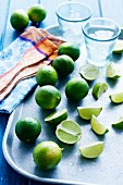 Limes: whole and cut into wedges