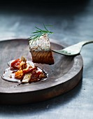 Herring fillet with a spicy chutney