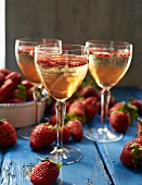 Strawberry prosecco