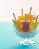 Fruit ice cream lollies