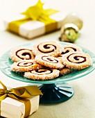 Jam spiral biscuits