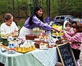 An outdoor bakesale