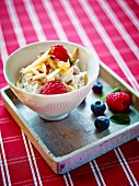 Bircher muesli with fresh berries and apple