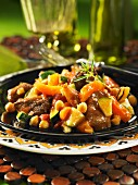 Lamb ragout with apricots